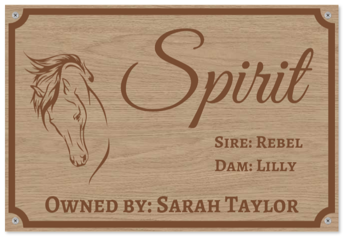 stable signs as Wood sign