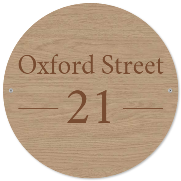 letterbox signs as Wood sign
